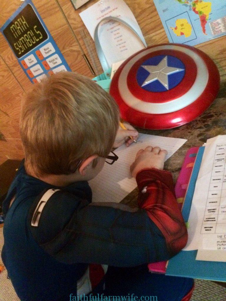 Homeschool Transition- Super Hero Schooling