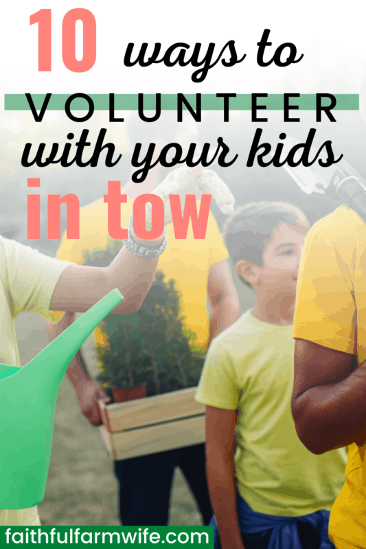 Are you a mama with a heart for ministry? Do you want to instill a servant's heart in your kiddos? Do you have a hard time finding opportunities to serve with your children in tow? Check out these neat service ideas that will make serving with children a little easier! #ministrymama #servantsheart #servingwithkids