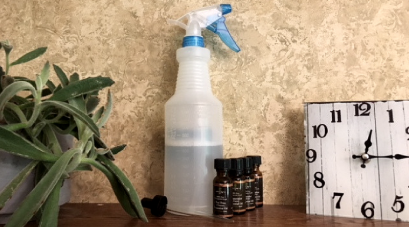 Homemade Antibacterial Spray with Essential Oils