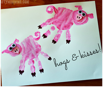 Pig Valentine's Craft