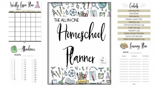 All-In-One Homeschool Planner | Faithful Farmwife