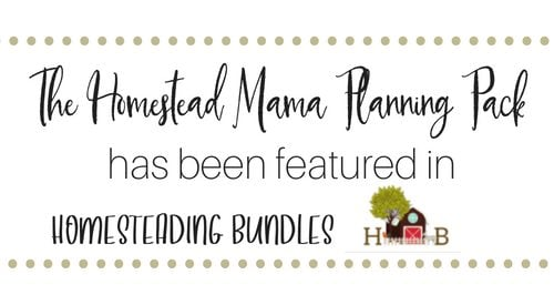Homestead Mama Planning Pack | Faithful Farmwife