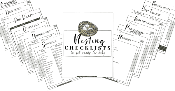 Nesting Checklists for Expectant Moms | Faithful Farmwife