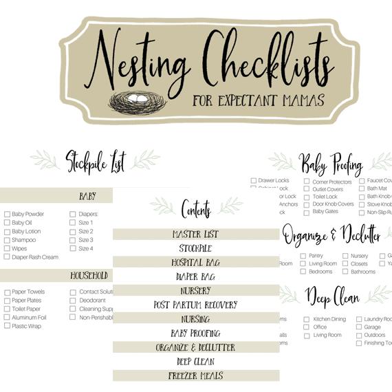 Nesting Checklists for Expectant Mamas   Faithful Farmwife