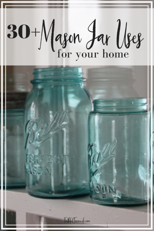 Mason jars have become a trend recently, but these jars were extremely useful for many years before the trend. Check out over 30 of the best mason jar uses! #masonjars #canningjars #repurpose