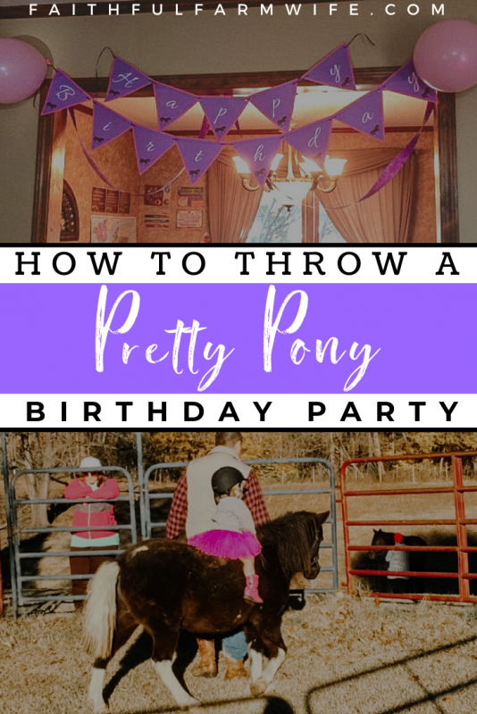Does your little horse lover have a birthday coming up? Try these ideas for activities, food, and decorations for a special horse birthday party! #birthdayparty #girlsbirthday #horsebirthday #horseparty #ponyparty #birthdayideas