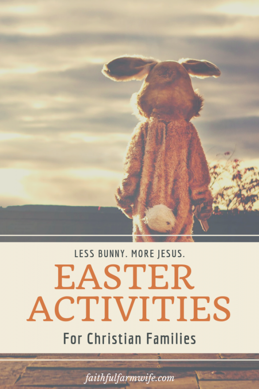 "Easter's meaning has a been tucked away behind bunnies & gifts for too long. Try these Christian Easter Activities with your kids this year to ""resurrect"" the real reason Easter is so important to us:) #Easter #Resurrection #EasterActivities #EasterForKids"