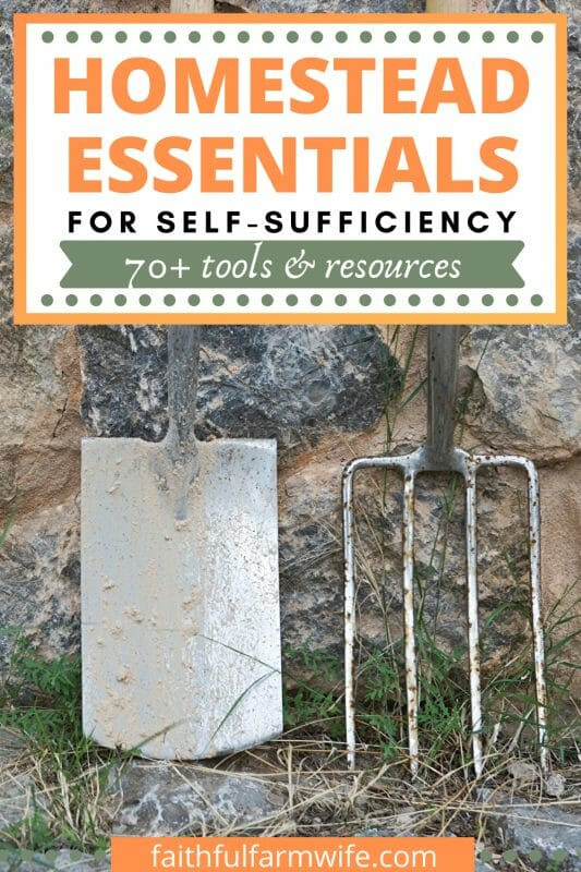 If you are just starting out on your homestead journey or you need to re-evaluate your current setup, then check out this list of homesteading essentials. #Homesteading #HomesteadEssentials