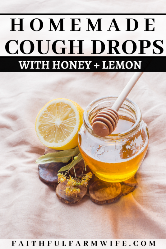 Whip up these soothing homemade cough drops with lemon, ginger, cinnamon, and honey to get a head start on healing your sore throat naturally! #homemadecoughdrops #naturalremedy #honey #sorethroat