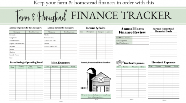 Whether you are a small-scale homesteader or a full-time farmer, you need a quality accounting system to manage your finances. Check out these farm finance tracking tools that can kick your profitability into high gear. #farmfinance #homesteadfinance #farmprofit #farmexpense #farmmanagement #homesteadmanagement
