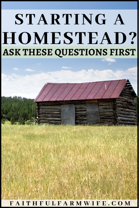 Are you thinking about starting a homestead of your own? Answer these 5 questions before you get started! #homesteading #startingahomestead #newhomesteader