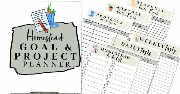 29 Best Homesteading Resources | The Goal & Project Planner | Faithful Farmwife