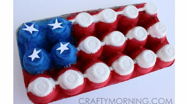 Egg Carton American Flag | Faithful Farmwife