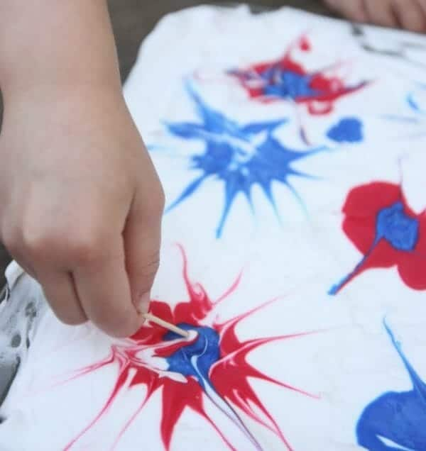 Shaving Cream Fireworks Craft | Simple 4th of July Craft Ideas + 4th of July  Recipes | Faithful Farmwife