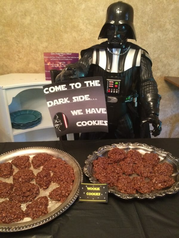 Darth Vader with Wookie Cookies | Faithful Farmwife