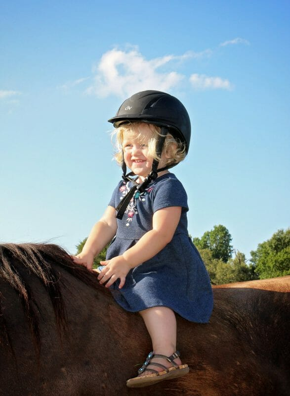 little girl riding a horse | Faithful Farmwife