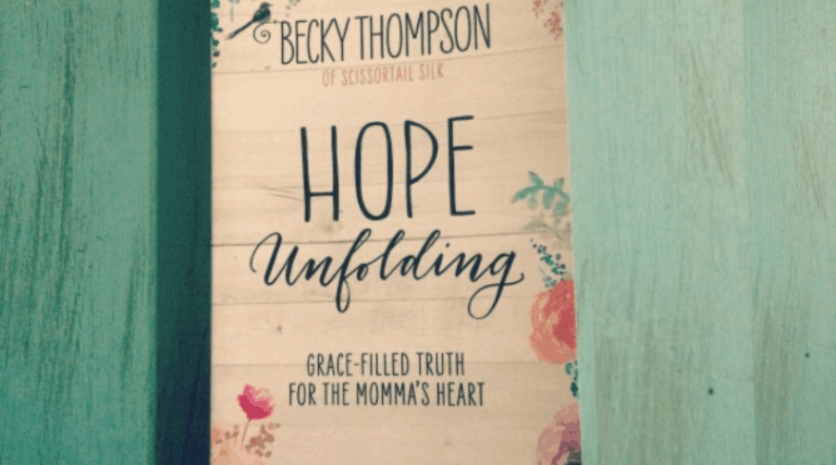 """""""Hope Unfolding"""" by Becky Thompson- Book Review"""