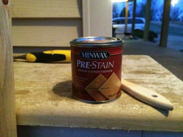 Minwax Pre-Stain | How to Build a DIY Baby Gate | Faithful Farmwife