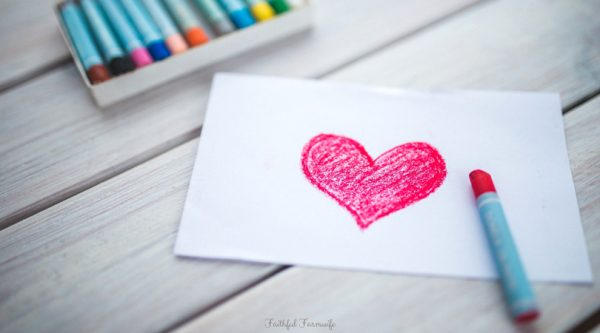 Heart Drawing   6 Simple Farm Themed Valentine's Day Crafts   Faithful Farmwife
