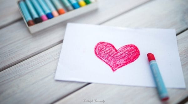 Valentine's Day Crafts Featured Image | Crayon + Heart Drawing