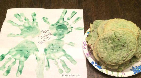Simple St. Patrick's Day Craft: Handprint Shamrock | Faithful Farmwife