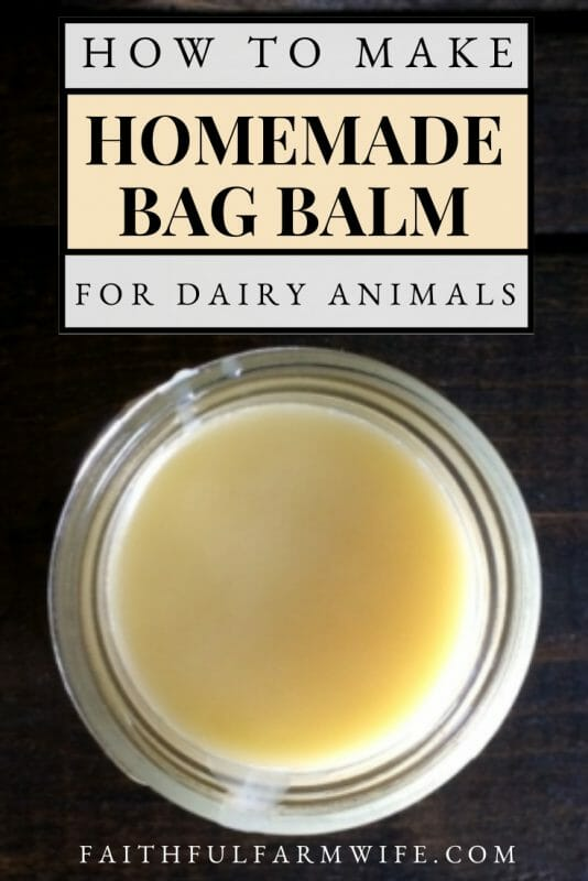 All Natural Homemade Bag Balm with Essential Oils | Faithful Farmwife