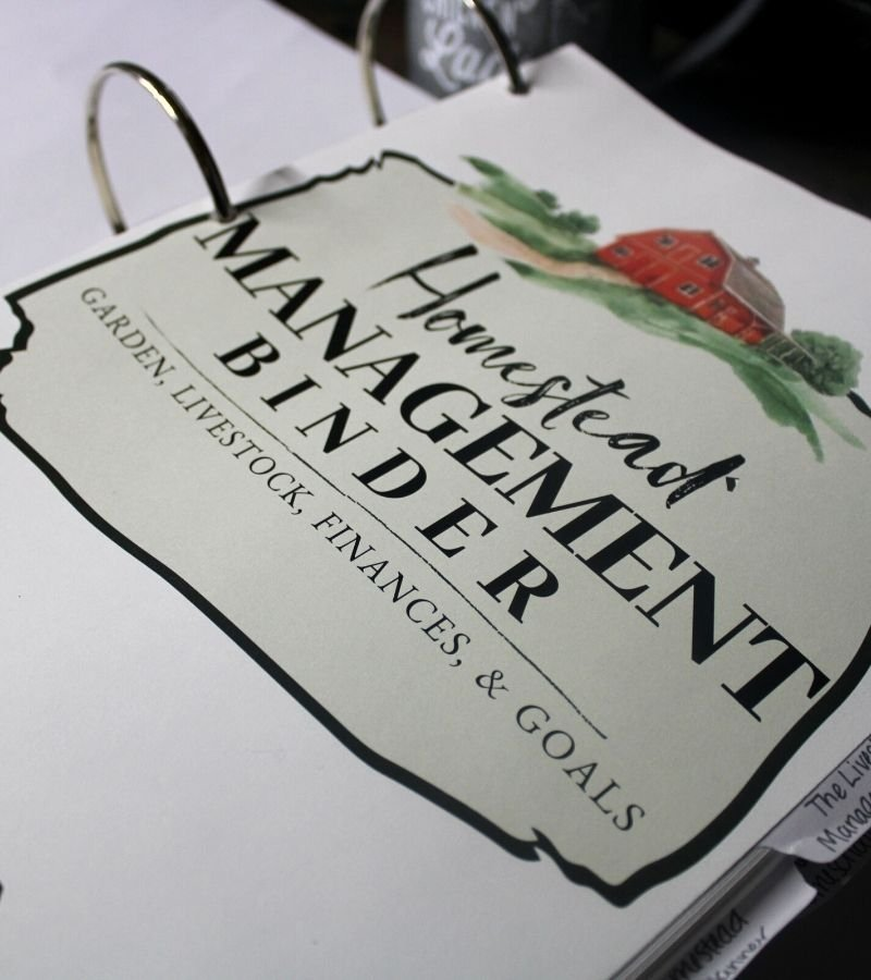 Image of the Homestead Management Binder Cover | Homestead mom gift ideas | Mama on the Homestead
