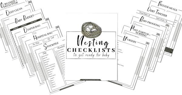 The Nesting Checklists for Expectant Moms | Faithful Farmwife