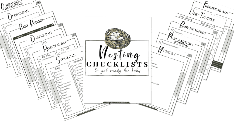 The Nesting Checklist Pack Preview | Mama on the Homestead