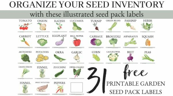 31 FREE Garden Seed Pack Labels | Faithful Farmwife