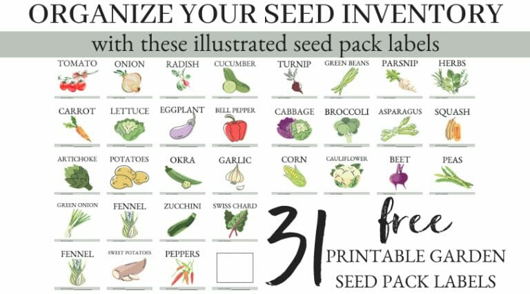 31 FREE Garden Seed Pack Labels