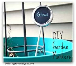 Mason Jar Lid Garden Labels | 30+ of the Best Mason Jar Uses for Your Home | Faithful Farmwife