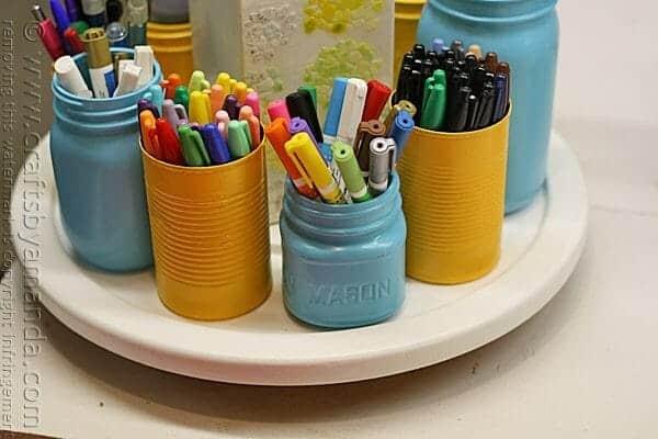 Mason Jar Craft Holder | 30+ of the Best Mason Jar Uses for Your Home | Faithful Farmwife