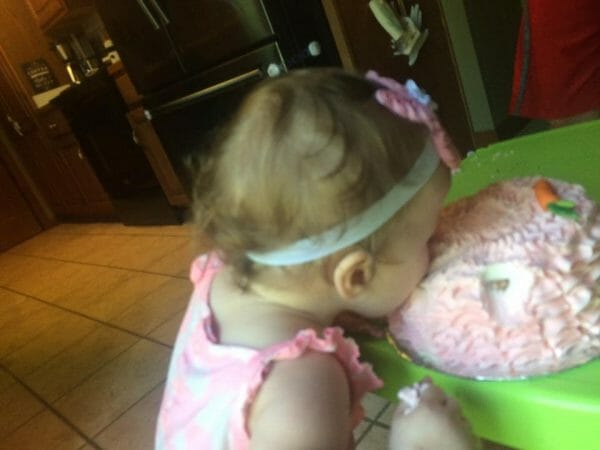 Bunny Birthday Smash Cake | Faithful Farmwife