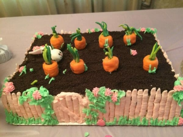 Bunny Birthday Party Cake | Faithful Farmwife