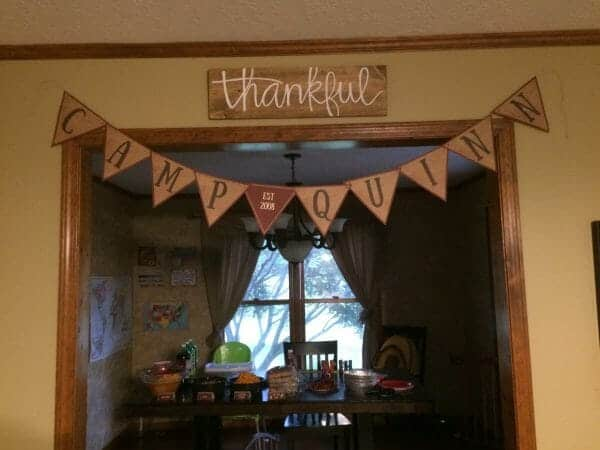 Camping Birthday party Banner | Faithful Farmwife