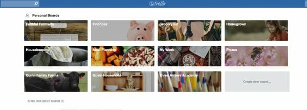 Trello Boards  | 17 Ways to Reduce Paper Waste at Home | Faithful Farmwife
