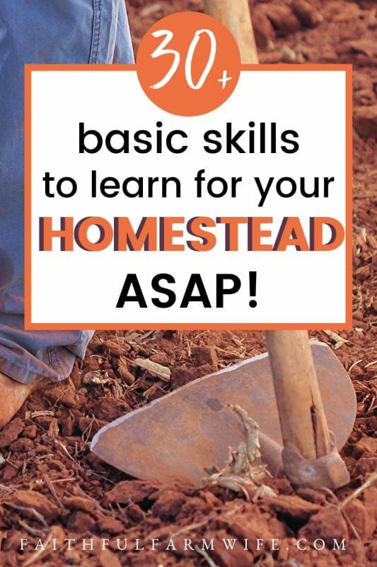 Are you homestead dreaming? That dream might be closer than you think! Find out what homestead skills you can start practicing NOW, no matter where you are! #homestead #homesteadskills #homesteading #startahomestead