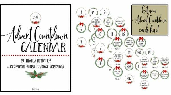 Advent Countdown Cards | Faithful Farmwife