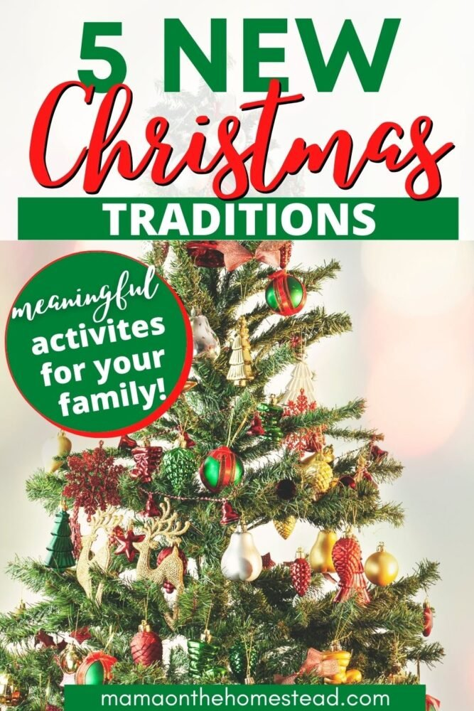 Image of decorated Christmas Tree   5 New Christmas Traditions: Meaningful Activities for your Family   Mama on the Homestead