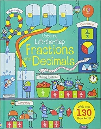 Usborne Life-The-Flap Fractions and Decimals | 29 of the Best Right-Brain Homeschool Math Resources | Faithful Farmwife