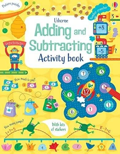 Usborne Adding & Subtracting Activity Book | 29 of the Best Right-Brain Homeschool Math Resources | Faithful Farmwife