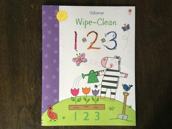 Usborne Wipe Clean 1-2-3 | 29 of the Best Right-Brain Homeschool Math Resources | Faithful Farmwife
