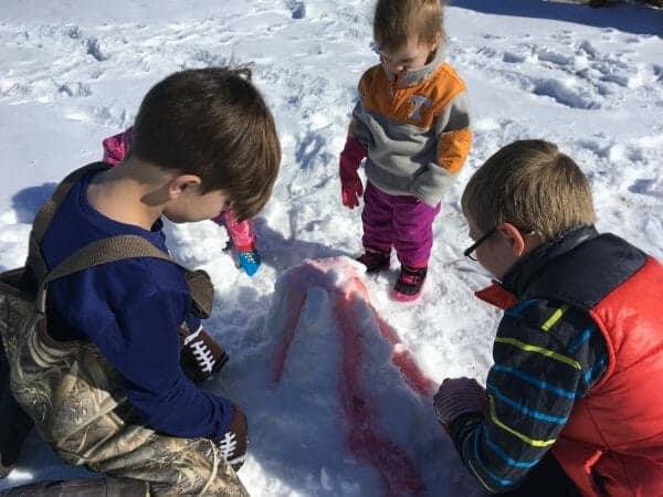 Snow Volcano | 7 Winter Science Experiments You Need to Try | Faithful Farmwife