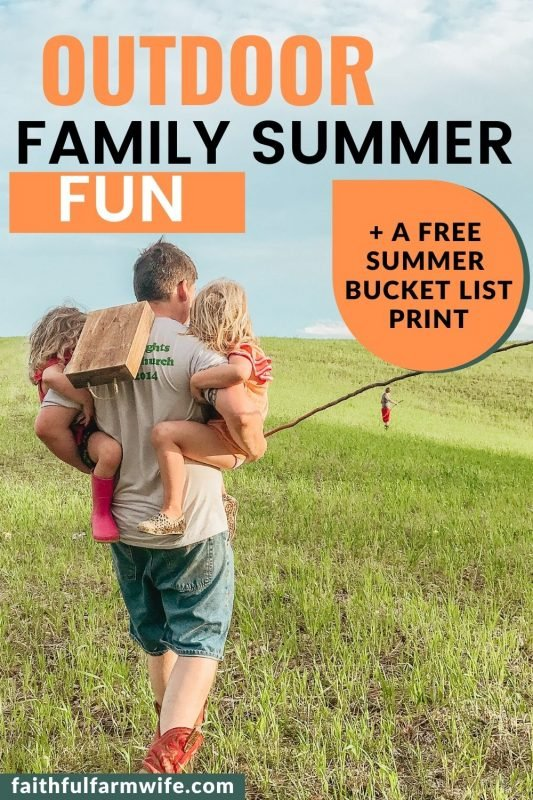 Maximize your family's summer fun with these ideas for simple, affordable, and engaging outdoor summer activities, projects, and games! #summertime #outdooractivities #getoutside #outdoorfun #familysummerfun #summer