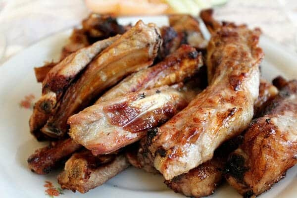 Ribs on a White Plate | 24 Best Easy Freezer Meals for Stress-Free Dinners | Faithful Farmwife