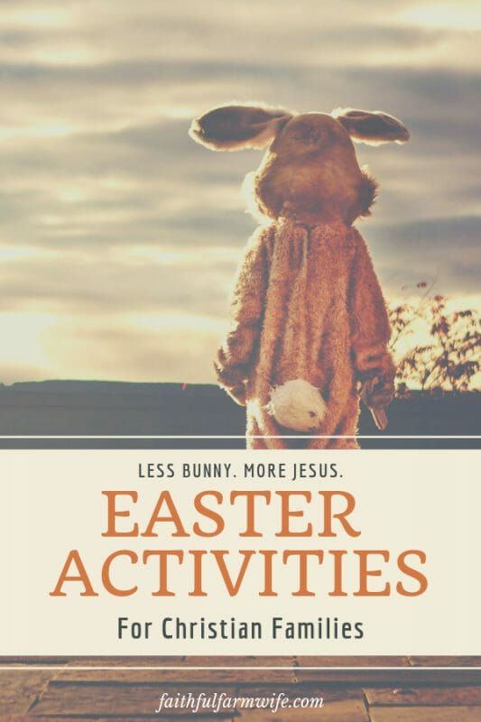 """Easter's meaning has a been tucked away behind bunnies & gifts for too long. Try these Christian Easter Activities with your kids this year to """"resurrect"""" the real reason Easter is so important to us:) #Easter #Resurrection #EasterActivities #EasterForKids"""