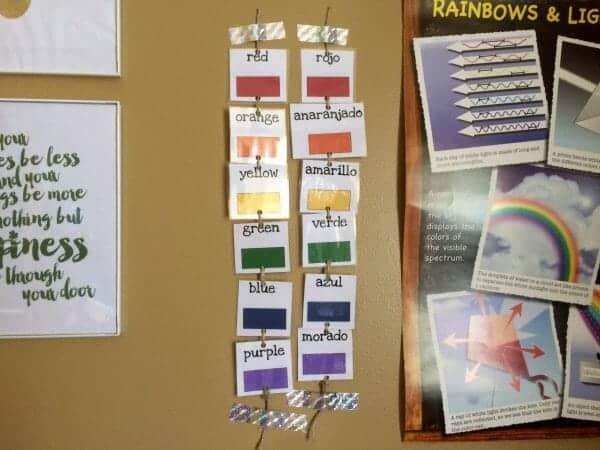 English/Spanish Rainbow Cards | Faithful Farmwife