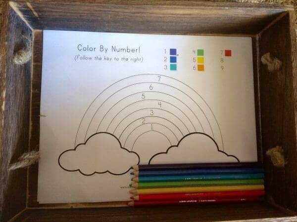 Rainbow Color by Number | Faithful Farmwife