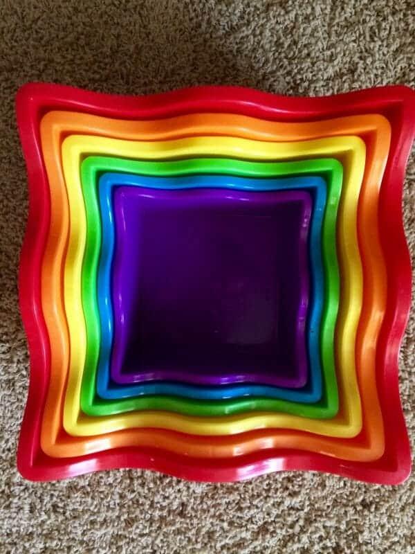 Rainbow Stacking Blocks | 53+ of the Best Rainbow Unit Study Resources | Faithful Farmwife